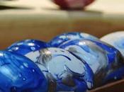 Pintando huevos Pascua esmalte uñas)