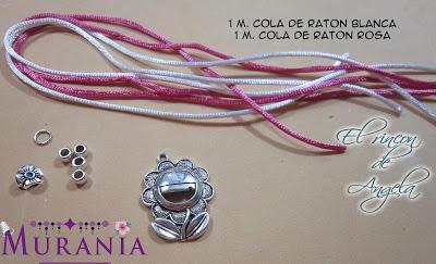 7421be40b99c Bisuteria Facil- Como hacer collares con antelina y cola de ratón ...