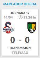 Cimarrones empata en la 17 del Clausura 2017