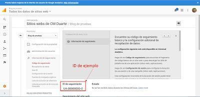 Obteniendo ID de Seguimiento Google Analytics