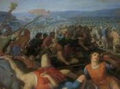 encuadre ajustado perspectiva grandiosa: batalla bátavos contra romanos.