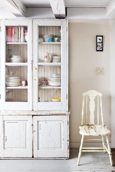 Deco ideas muebles recuperados pintados de blanco - Muebles pintados en blanco ...