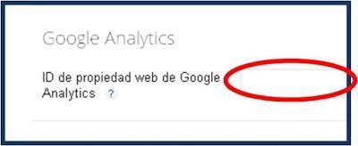 Poner ID de propiedad de Google Analytics en Blogger