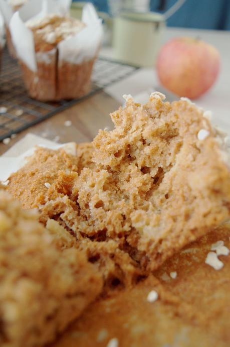 Muffins de miel, avena y manzana, los más sencillos que conozco