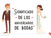Regalos aniversarios boda
