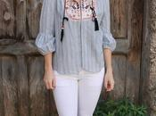 Blue&White Bohoo shirt