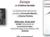 """Presentación """"Europa"""" Cristina Cerrada"""