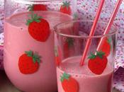 Batido leche fresas