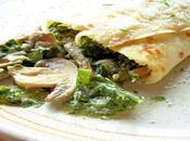 Crepes saladas champiñones espinacas