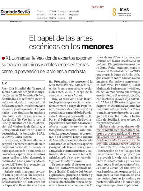 la prensa ha dicho, Prensa de las jornadas Te Veo en Sevilla por manu medina