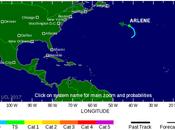 """tormenta tropical """"Arlene"""" forma Atlántico fuera temporada"""