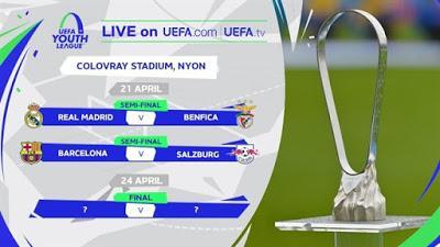 Semifinales UEFA Youth League: ¿Donde ver el Barcelona - Salzburgo y Real Madrid - Benfica?