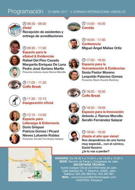 V Jornada Internacional #3esalud: e-videncia, e-salud, e-innovación en salud y cuidados