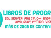 +1400 libros definitivos para aprender programar +25gb contenido informáticos programadores