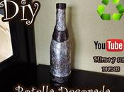 Decorando Botella Vidrio. Mirna manus