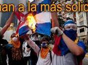 significado bandera quemada oposición Venezuela