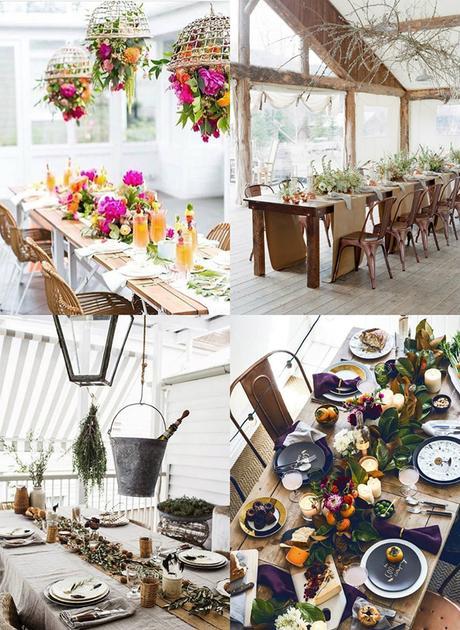 20 ideas para decorar la mesa de tu boda con estilo for Mesas puestas con estilo