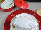 Pechugas rellenas salsa queso gorgonzola