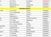 Horarios fútbol Ourense, Abril