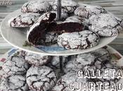 Galletas cuarteadas chocolate harina mantequilla