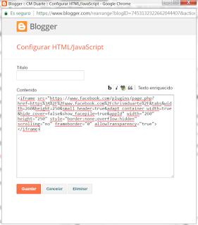 Como crear un plugin de página de Facebook para Blogger
