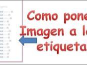 Como poner imágenes etiquetas