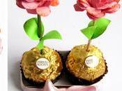 Rositas cartulina chocolates para madre