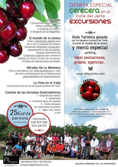 Excursiones para grupos a La Cerecera del Valle del Jerte