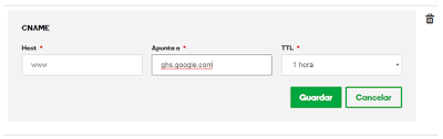 www apunta a Blogger
