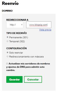 Como poner dominio personalizado en Blogger