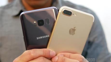 Comparativa del Samsung Galaxy S8 Plus y el iPhone 7 Plus