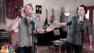 Luke Perry y Jimmy Fallon