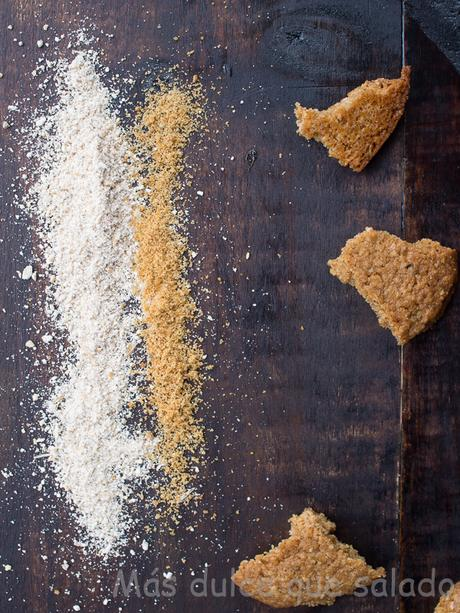 Galletas de harina de avena, espelta y panela