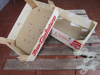 Reciclar una caja de fresas con decoupage y poco mas - Cajas de fresas decoradas paso a paso ...