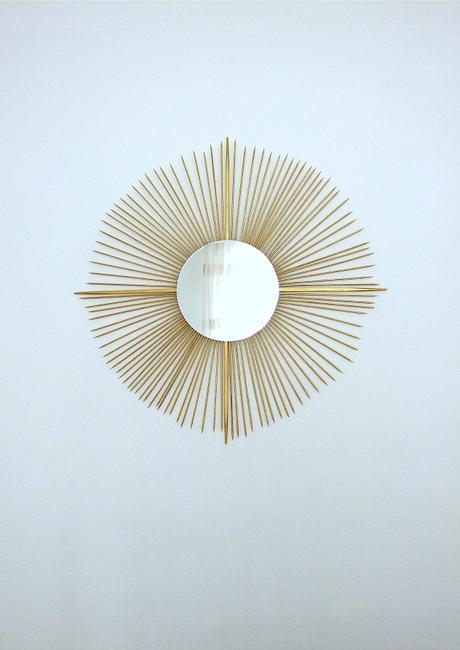 DIY espejo sol dorado