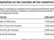 Docentes. Adelanto cuenta Acuerdo paritario pagar mayo 2017