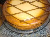 Tarta queso, manzana crema orujo