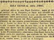 Idea general Perú: Mercurio Peruano enero 1791