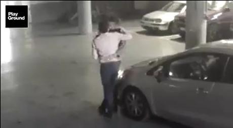 Vídeo: hombres chocan y tras pelea terminan besándose