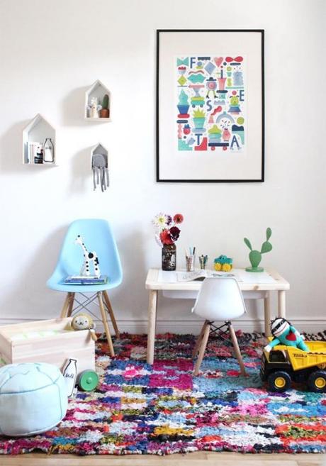 alfombras coloridas para dormitorios infantiles