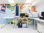 Unas coloridas ilustraciones para vida laboratorio médico