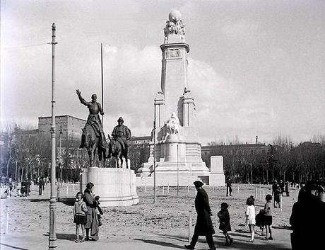 Fotos antiguas de Madrid: Plaza de España (1920)