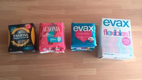 Probando Ausonia,Evax y Tampax