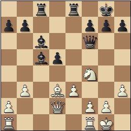 Partida de ajedrez Golmayo vs. Pomar, posición después de 17…Ac6