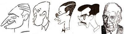 Caricaturas de ajedrecistas españoles