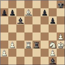 Partida de ajedrez Golmayo vs. Pomar, posición después de 35…Te3!!