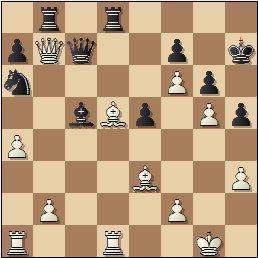 Partida de ajedrez Rey Ardid vs. Fernández Serrano, posición inicial