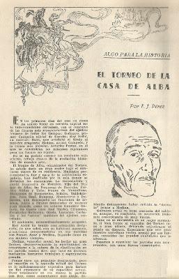 Artículo de F. J. Pérez en Ajedrez Español sobre el I Torneo Duque de Alba 1946