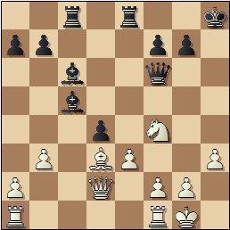 Partida de ajedrez Golmayo vs. Pomar, posición después de 19…d4!