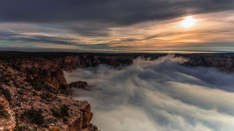 Video TimeLapse captura rara inversión de nube completa en el Gran Cañón